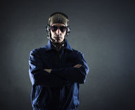 Portrait d'un homme d'affaires pilote Images libres de droits