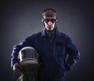Portrait d'un homme d'affaires pilote Image libre de droits