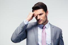 Portrait d'un homme d'affaires songeur photographie stock libre de droits