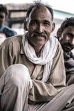 Portrait d'un homme dans l'Inde Photos stock
