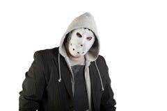 Portrait d'un homme dans le masque rampant photographie stock