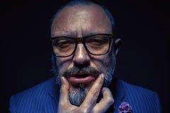 Portrait d'un homme de barbe photo stock