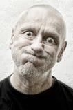 Portrait d'un homme drôle et fol Photos stock