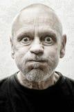 Portrait d'un homme drôle et fol Image stock