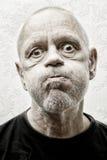 Portrait d'un homme drôle et fol Photographie stock