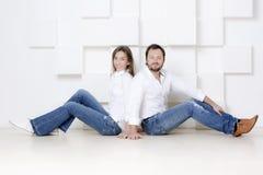 Portrait d'un homme et d'une femme Photos stock
