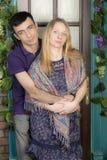 Portrait d'un homme et d'une femme enceinte Photographie stock