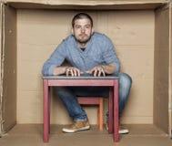 Portrait d'un homme hyperactif Photographie stock libre de droits