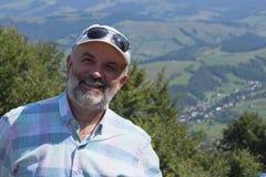 Portrait d'un homme mûr avec une barbe Photographie stock libre de droits
