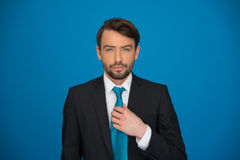 Portrait d'un homme sûr bel d'affaires Image stock