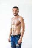 Portrait d'un homme sans chemise musculaire sexy Photo libre de droits