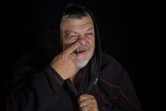 Portrait d'un imbécile plus âgé Photographie stock libre de droits