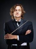 Portrait d'un jeune chef d'orchestre Images stock
