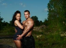 Portrait d'un jeune couple de forme physique Photo libre de droits