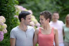 Portrait d'un jeune couple hétérosexuel Image libre de droits