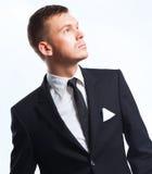 Portrait d'un jeune exécutif dans le costume photos stock