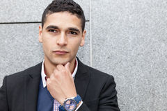 Portrait d'un jeune homme avec Images libres de droits