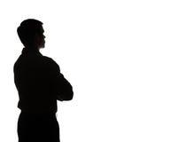 Portrait d'un jeune homme, vue arrière Photos stock