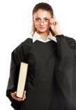 Portrait d'un jeune juge féminin, d'isolement dessus Photographie stock libre de droits