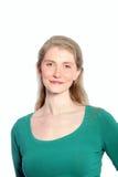 Portrait d'un jeune sourire attrayant de femme photo libre de droits