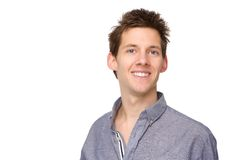 Portrait d'un jeune sourire de mâle adulte Photographie stock