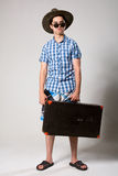 Portrait d'un jeune touriste dans un looki intégral Image stock
