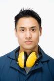 Portrait d'un ouvrier Photographie stock libre de droits