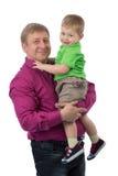 Portrait d'un père avec un fils de 3 ans Images libres de droits