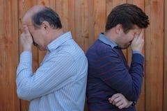 Portrait d'un père et d'un fils pluss âgé Photo libre de droits