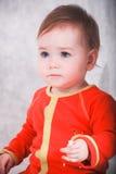 Portrait d'un petit bébé Photo stock