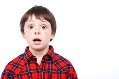 Portrait d'un petit garçon émotif Image libre de droits