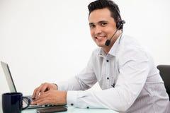 Portrait d'un représentant heureux de ventes Images stock