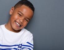 Portrait d'un sourire beau de petit garçon Photos libres de droits