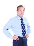 Portrait d'un sourire heureux d'homme d'affaires Photographie stock