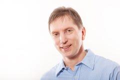 Portrait d'un sourire réussi d'homme d'affaires. photos stock