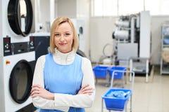 Portrait d'un travailleur de blanchisserie de femme photos libres de droits