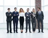 Portrait d'une équipe professionnelle d'affaires Image stock