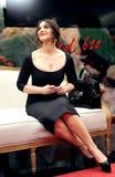 Portrait d'une actrice Monica Bellucci Images libres de droits
