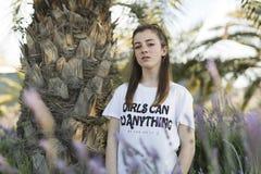 Portrait d'une adolescente de 15 ans Images stock
