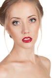 Portrait d'une belle femme Photos stock