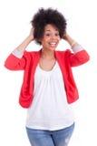Portrait d'une belle femme d'afro-américain Image libre de droits