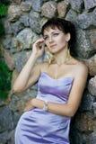 Portrait d'une belle femme de brune Images libres de droits