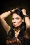 Portrait d'une belle femme de steampunk Images libres de droits
