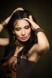 Portrait d'une belle femme de steampunk Photo libre de droits