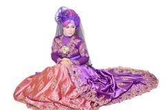 Portrait d'une belle femme musulmane Photographie stock libre de droits
