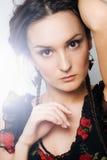Portrait d'une belle fille Photographie stock