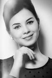 Portrait d'une belle fille avec le maquillage Images stock