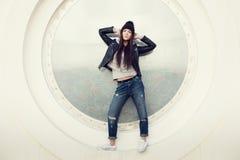 Portrait d'une belle hippie de fille Photos stock