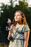 Portrait d'une belle jeune adolescente Images libres de droits