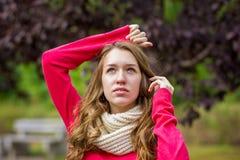 Portrait d'une belle jeune femme Photographie stock